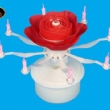 Rotating Rose Music Candle